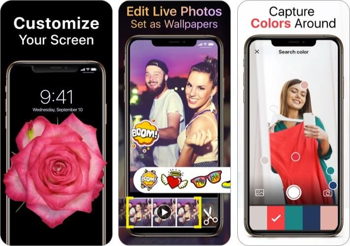 Live Wallpapers Now App für iPhone