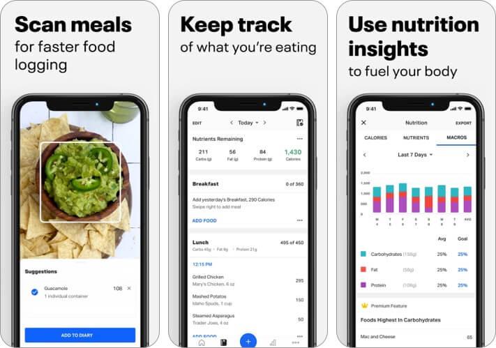 myfitnesspal скриншот приложения для iphone и ipad для женщин