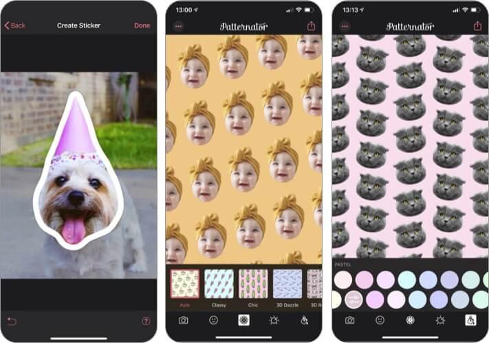 Patternator Live Wallpaper Maker App für iPhone