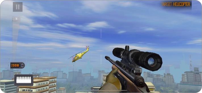 Screenshot des Sniper 3D iPhone-Spiels