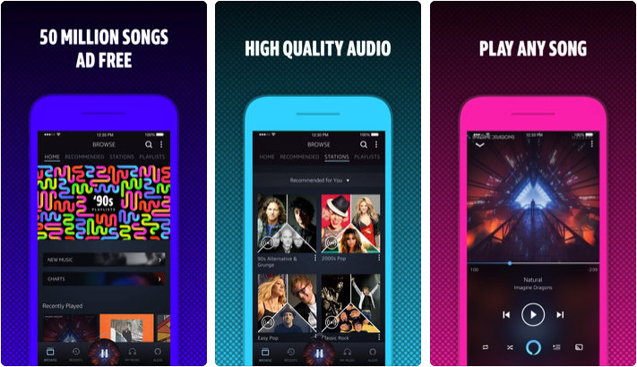 Amazon Music iPhone iPad Spotify Alternative App Screenshot