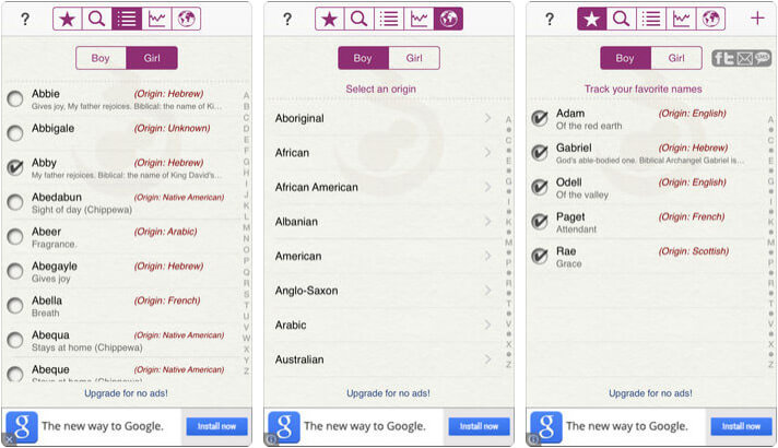 ‎Baby Names by Winkpass iPhone and iPad App Screenshot