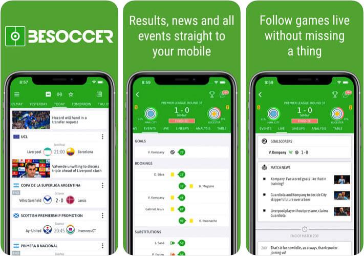 BeSoccer iPhone and iPad App Screenshot