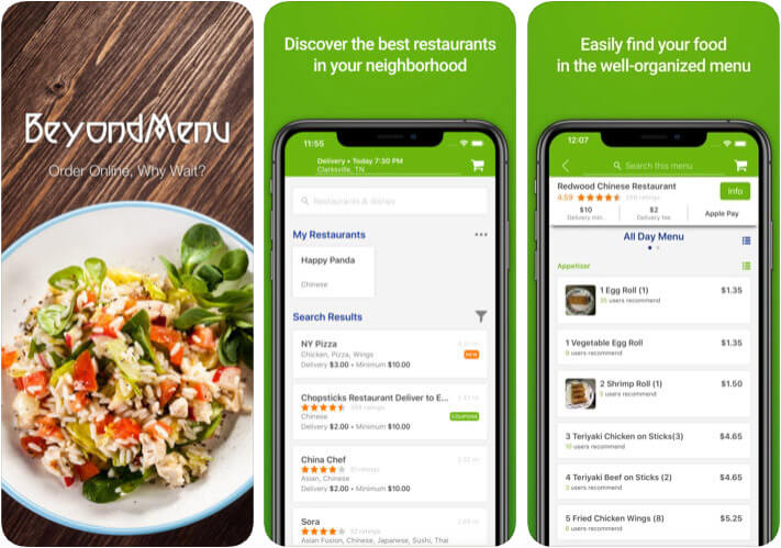 ‎BeyondMenu Food Ordering iPhone and iPad App Screenshot