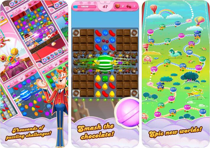 Candy Crush Saga One-Handed iPhone and iPad Game Screenshot