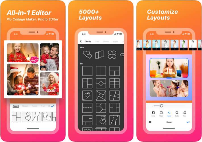 Collage Maker for Instagram iPhone App Screenshot