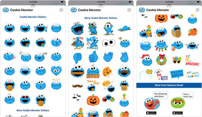 ‎Cookie Monster Stickers iPhone and iPad App Screenshot