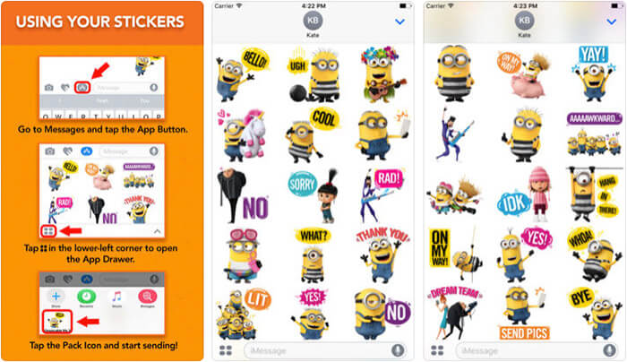 ‎Despicable Me 3 Stickers iPhone and iPad App Screenshot