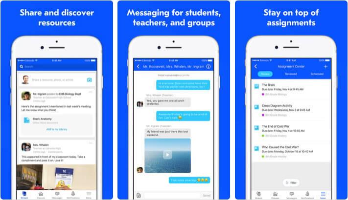 Edmodo iPad Teachers App Screenshot