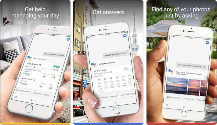 Google Assistant iPhone and iPad App Screenshot