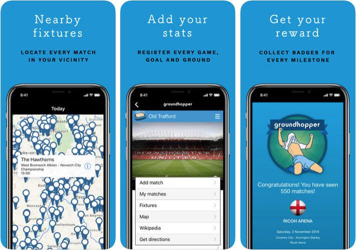 Groundhopper Football Score iPhone and iPad App Screenshot