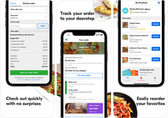 ‎Grubhub Food Delivery iPhone and iPad App Screenshot