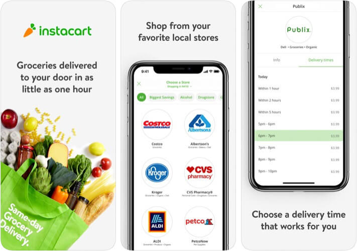 Instacart Apple Pay Support iPhone and iPad App Screenshot