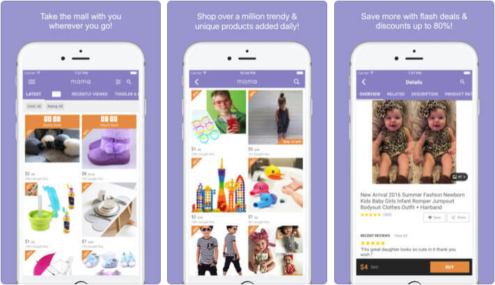 ‎Mama Kids Shopping iPhone and iPad App Screenshot