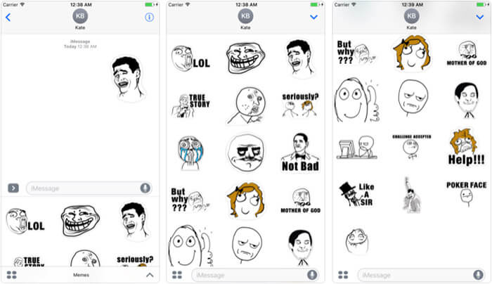 ‎Memes Stickers iPhone and iPad App Screenshot