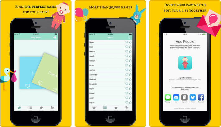 Perfect Baby Name Finder iPhone and iPad App Screenshot