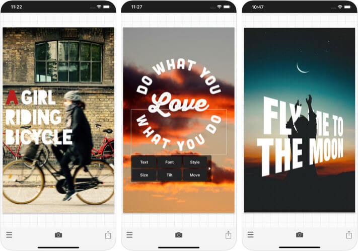 Phonto Instagram Stories iPhone App Screenshot