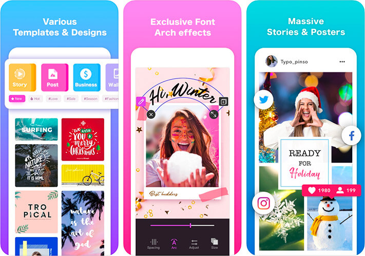 Pinso Wallpaper and Poster Maker iPhone and iPad App Screenshot