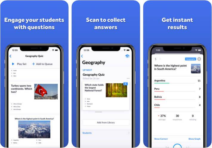 Plickers Classroom Management iPhone and iPad App Screenshot