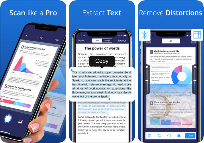 Scanner Pro Readdle iPhone and iPad App Screenshot