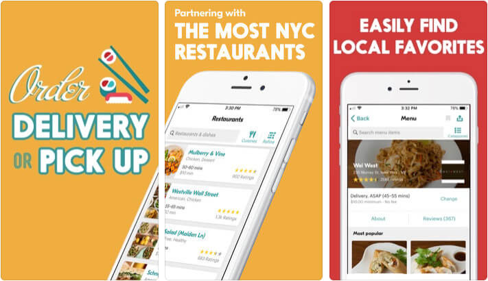 ‎Seamless Food Ordering iPhone and iPad App Screenshot