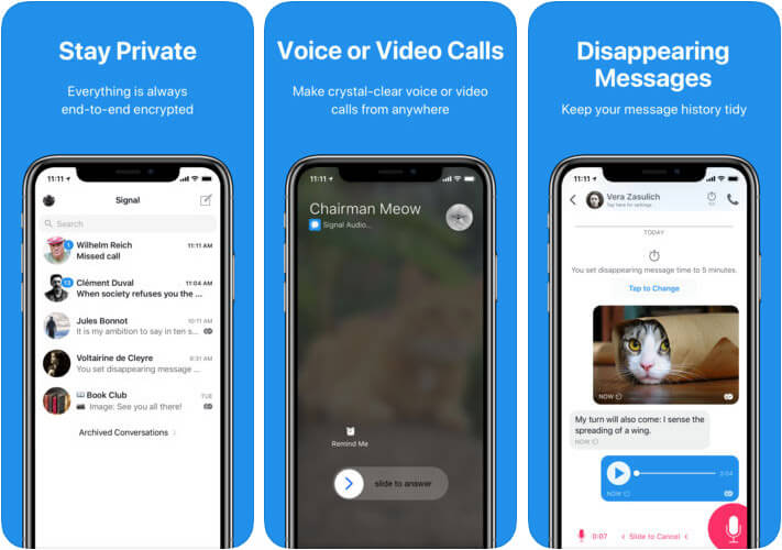Signal Private Messenger iMessage Alternative iPhone App Screenshot