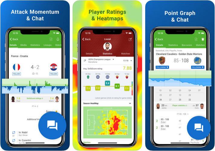 SofaScore Live Football iPhone and iPad App Screenshot