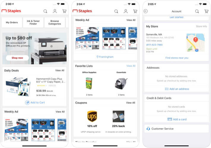 Staples Apple Pay Support iPhone and iPad App Screenshot