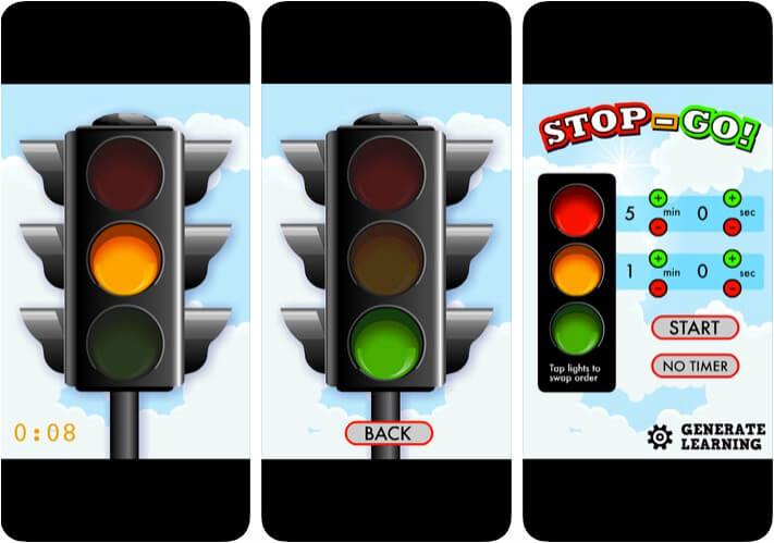Stop Go Classroom Management iPhone and iPad App Screenshot