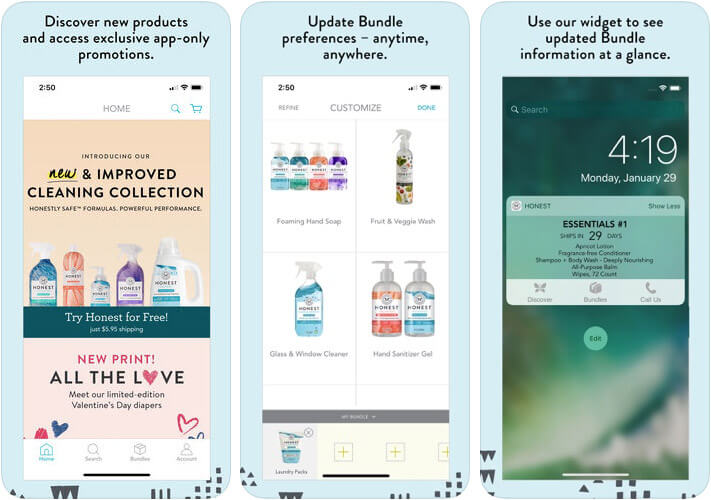 ‎The Honest Company Baby Shopping iPhone and iPad App Screenshot