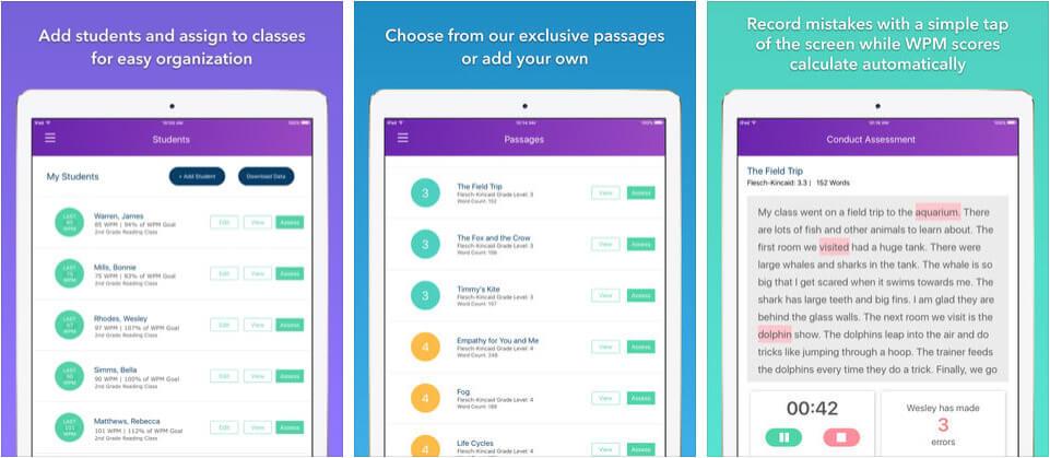 ThinkFluency iPhone and iPad Assessments App Screenshot