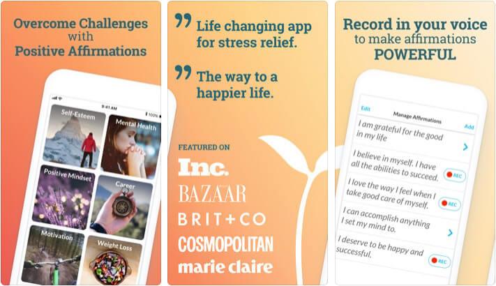 ThinkUp Personality Development iPhone and iPad App Screenshot