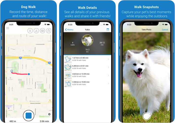 ‎Tractive Dog Walk Pet Care iPhone and iPad App Screenshot