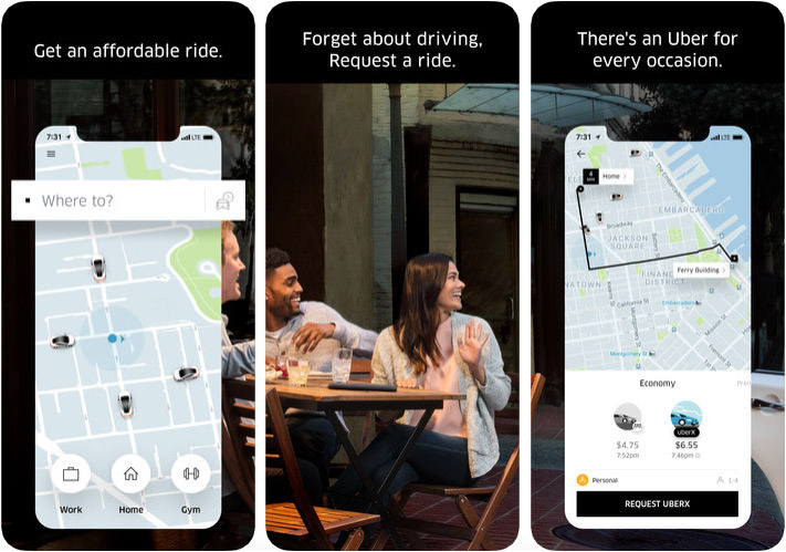 Uber Apple Pay Support iPhone and iPad App Screenshot