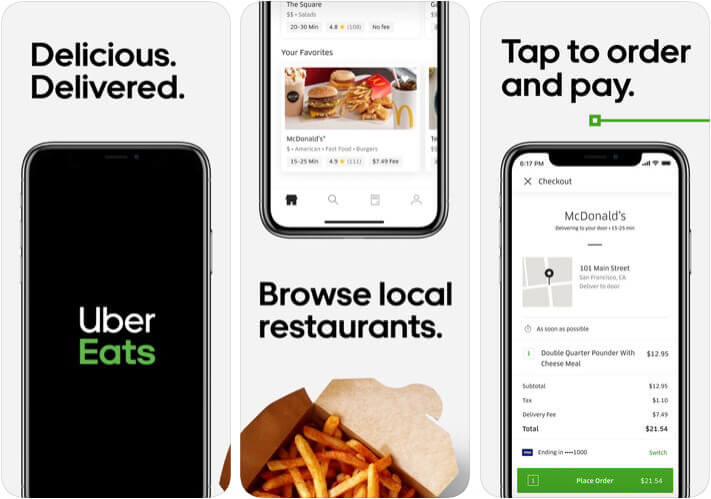 ‎Uber Eats Food Ordering iPhone and iPad App Screenshot