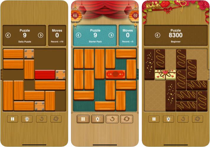 Unblock Me iPhone and iPad Board Game Screenshot