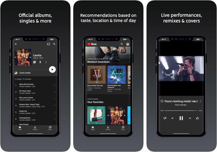 YouTube Music iPhone iPad Spotify Alternative App Screenshot