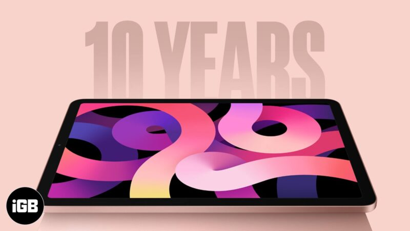 10 Years of Iconic iPad