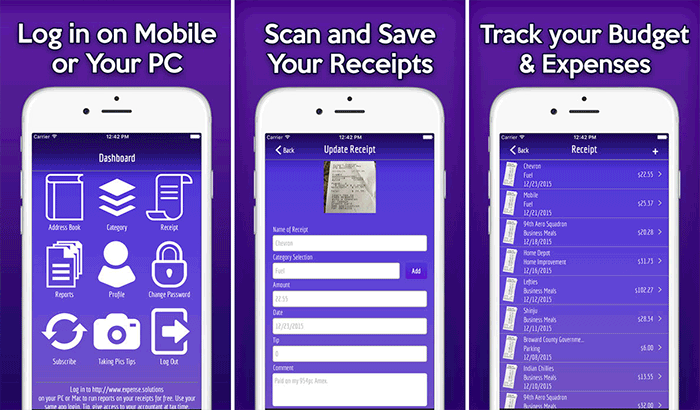 123 Easy Receipt Expense Tracker iPhone and iPad App Screenshot