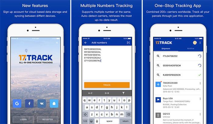 17TRACK Shipment Tracking iPhone and iPad App Screenshot