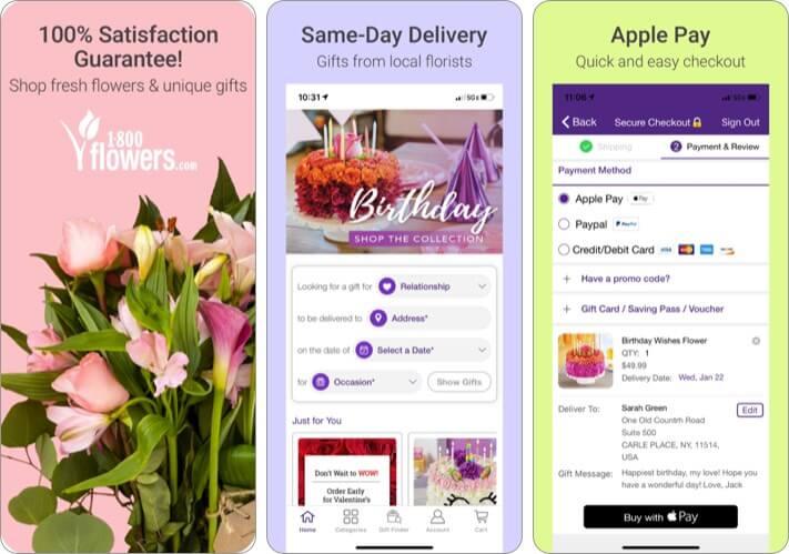 1800Flowers iPhone and iPad App Screenshot