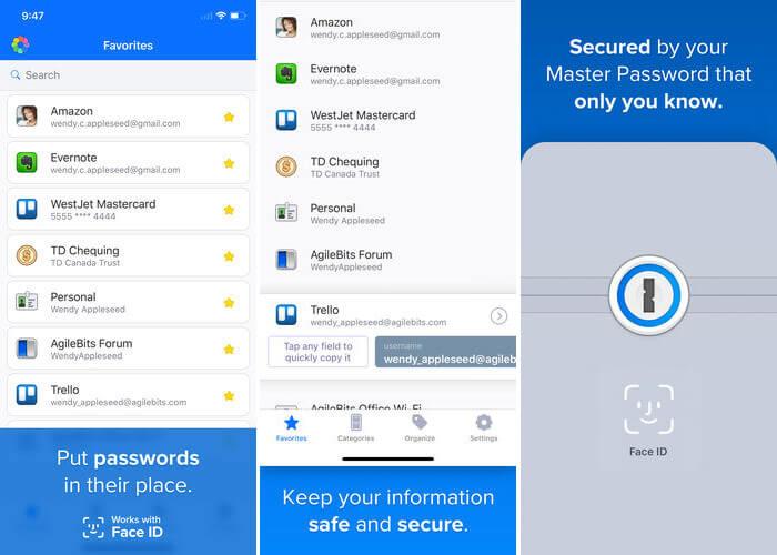 1Password Drag and Drop iPad App Screenshot