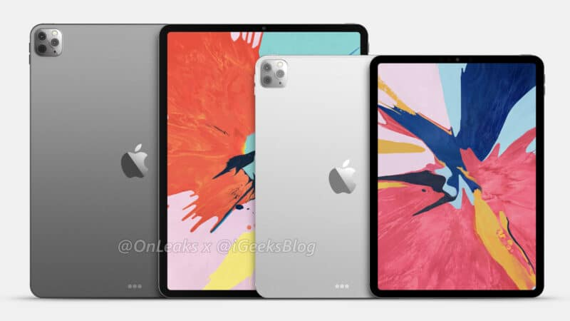 2020 11 inch and 12.9 inch iPad Pro Renders