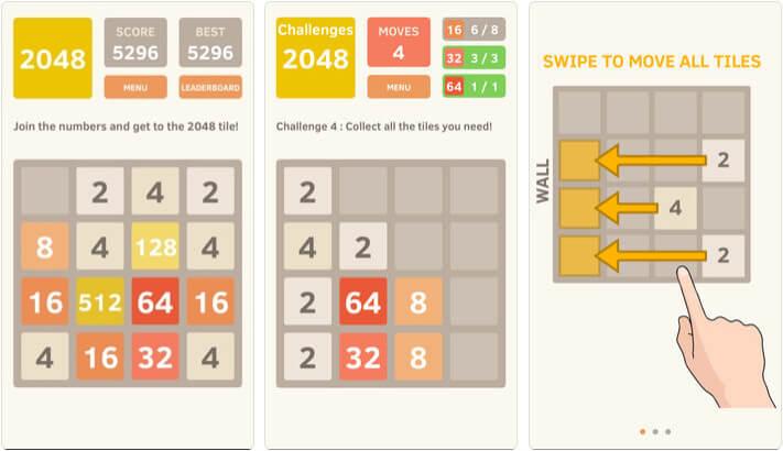 2048 iPhone and iPad Board Game Screenshot