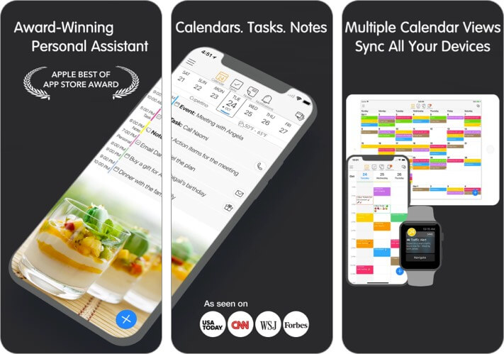 24me iPhone and iPad Calendar App Screenshot
