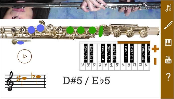 2D Flute Fingering iOS App Screenshot