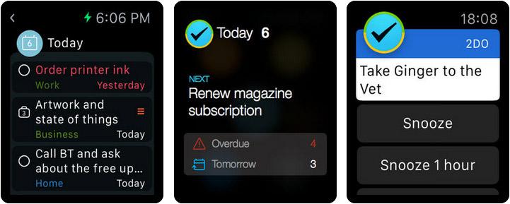2Do Apple Watch Reminder App Screenshot