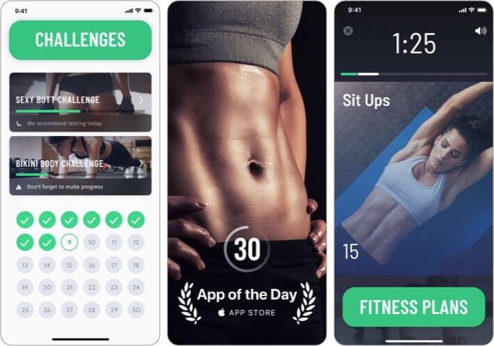 30 Day Fitness iOS Workout App Screenshot