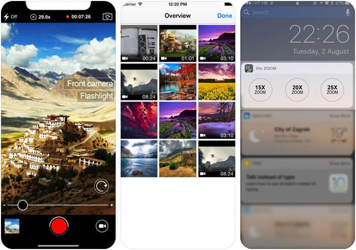 30x Zoom Digital Video Camera iPhone and iPad App Screenshot