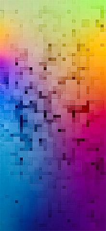 3D Mosaic Multicolors Wallpaper for iPhone XR